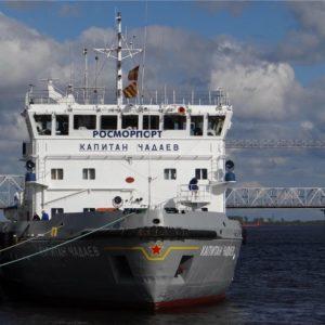 Доковый ремонт ледокола Капитан Чечкин