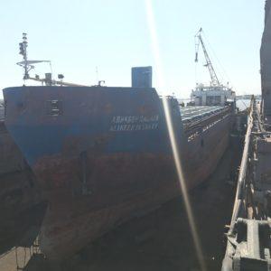 Доковый ремонт судна А.Пашаев